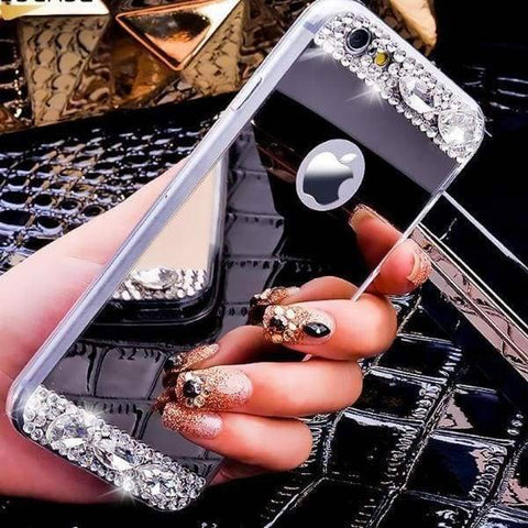 Iphone Bling Mirror Case For Iphone 7 /6S /6 Plus /5 /5S /x - Iphone Cases & Bags - Paidcellphone