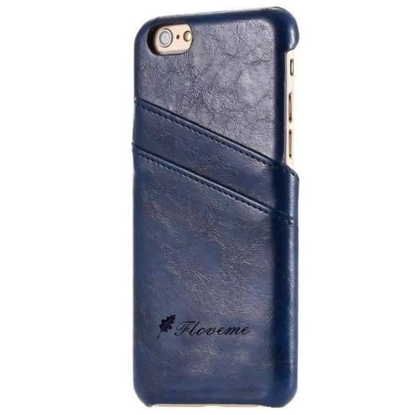 Iphone Card Holder Cover For Iphone X /8 /7 Plus /5 /5S /6 /6S Plus - Blue / China / For Iphone 6 6S - Iphone Cases & Bags - Paidcellphone