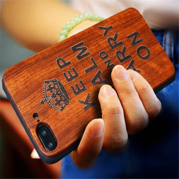 Keep Calm Wooden Case - Iphone Cases & Bags - Paidcellphone