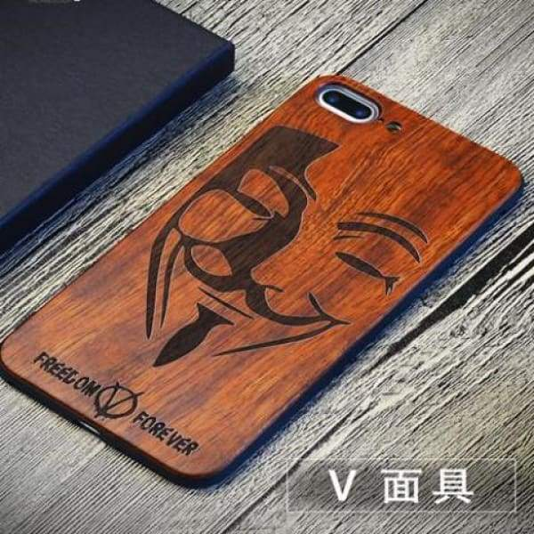 Keep Calm Wooden Case - As Picture 3 / For Iphone 7 8 - Iphone Cases & Bags - Paidcellphone