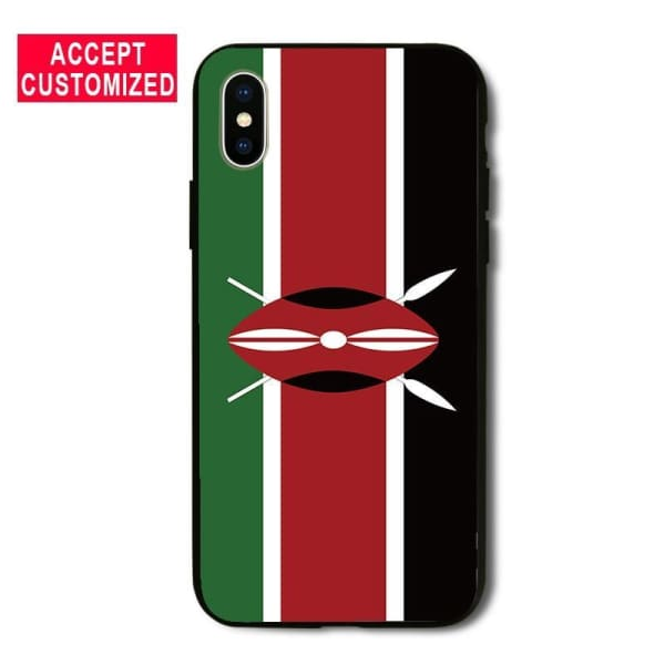 Kenya Flag Iphone Cover Case For Iphone 5 /5S Se /6 /6S /7 /8 Plus /x - Iphone Cases & Bags - Paidcellphone