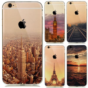 Landscape New York | Eiffel Tower Paris Iphone Case For Iphone 7 /8 /plus /6(S) /5S Se - Iphone Cases & Bags - Paidcellphone