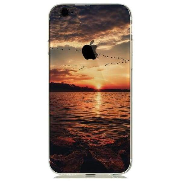Landscape New York | Eiffel Tower Paris Iphone Case For Iphone 7 /8 /plus /6(S) /5S Se - Sunset / For Iphone 5 5S Se - Iphone Cases & Bags -