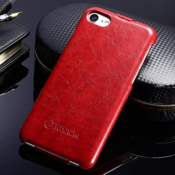 Leather Phone Bag Cover For Iphone 7 - Red / For Iphone 7 - Iphone Cases & Bags - Paidcellphone