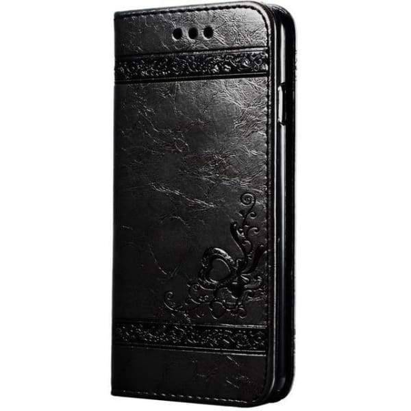 Leather Wallet Cases For Iphone X - Black Case - Iphone Cases & Bags - Paidcellphone