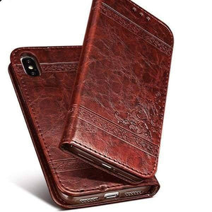 Leather Wallet Cases For Iphone X - Iphone Cases & Bags - Paidcellphone