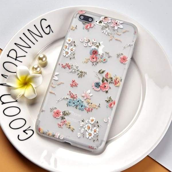 Luxury Silicone 3D Floral Case For Iphone X/7/8/ 6(S) Plus - Style 3 / For Iphone X - Iphone Cases & Bags - Paidcellphone
