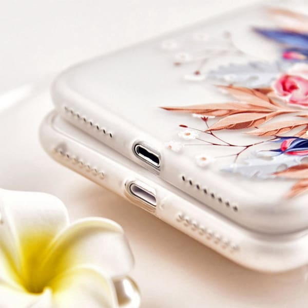 Luxury Silicone 3D Floral Case For Iphone X/7/8/ 6(S) Plus - Iphone Cases & Bags - Paidcellphone