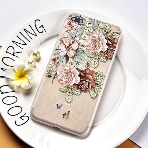 Luxury Silicone 3D Floral Case For Iphone X/7/8/ 6(S) Plus - Style 4 / For Iphone X - Iphone Cases & Bags - Paidcellphone