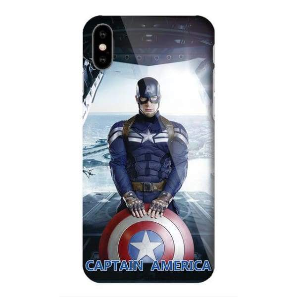 Marvel Captain America Case For Iphone X /7 /8 /6(S) Plus - M11 / For Iphone 6 6S - Iphone Cases & Bags - Paidcellphone