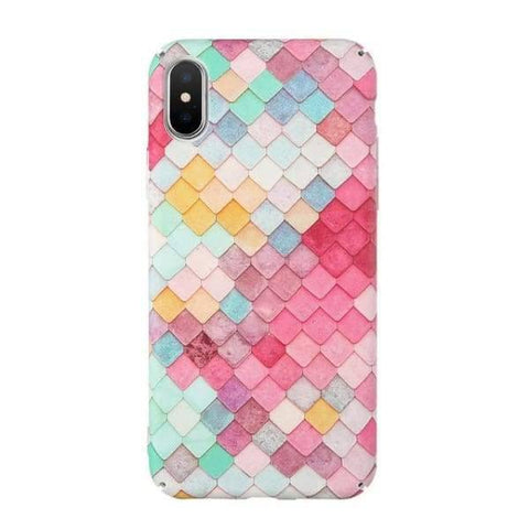 Mermaid Scale Phone For Iphone 7/ 6 /8 - Colorful 1 / For Iphone 8 - Iphone Cases & Bags - Paidcellphone