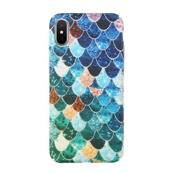 Mermaid Scale Phone For Iphone 7/ 6 /8 - Colorful 2 / For Iphone 6 6S - Iphone Cases & Bags - Paidcellphone