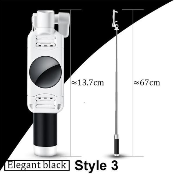 Mini Selfie Stick For Iphone 6 /5 - Style 3 Black - Selfie Stick - Paidcellphone