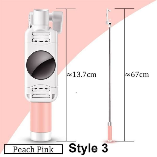 Mini Selfie Stick For Iphone 6 /5 - Style 3 Pink - Selfie Stick - Paidcellphone