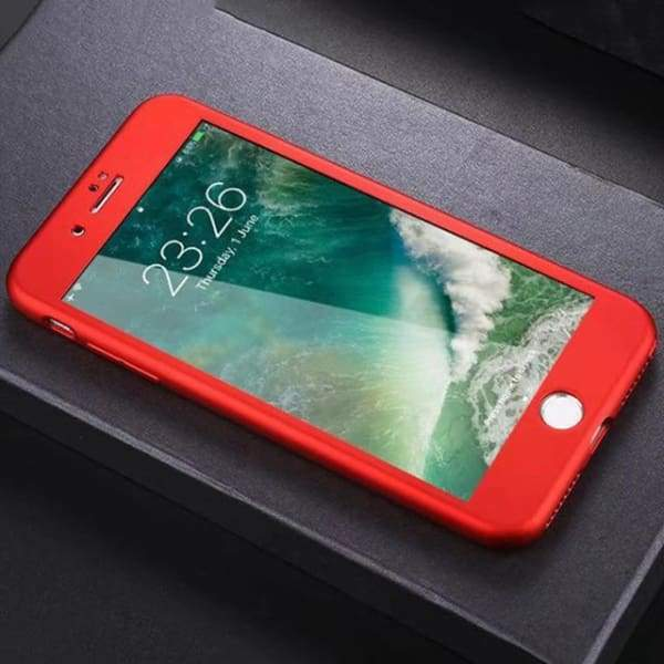 Plain Dirt-Resistant Cases For Iphone 7/ 7 Plus With Deign Matte - Red / For Iphone 7 - Iphone Cases & Bags - Paidcellphone