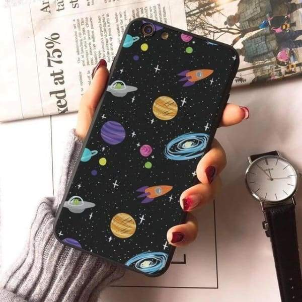 Planet Stars Iphone Case For Iphone 7 /7Plus /x /8 /8Plus /6S /6 /6Plus /5 /5S 5Se - 1 / For Iphone 8 - Iphone Cases & Bags - Paidcellphone