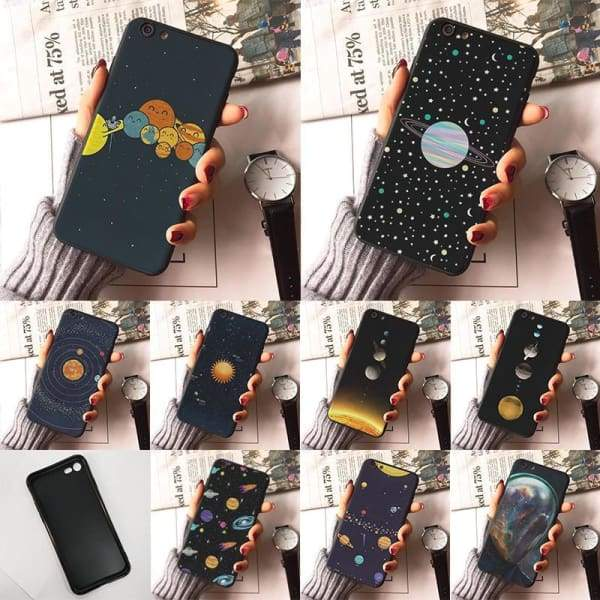 Planet Stars Iphone Case For Iphone 7 /7Plus /x /8 /8Plus /6S /6 /6Plus /5 /5S 5Se - Iphone Cases & Bags - Paidcellphone