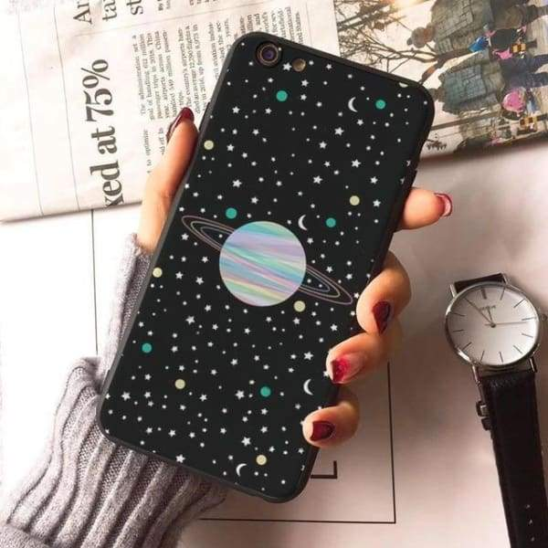 Planet Stars Iphone Case For Iphone 7 /7Plus /x /8 /8Plus /6S /6 /6Plus /5 /5S 5Se - 8 / For Iphone 8 - Iphone Cases & Bags - Paidcellphone