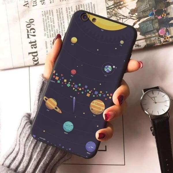 Planet Stars Iphone Case For Iphone 7 /7Plus /x /8 /8Plus /6S /6 /6Plus /5 /5S 5Se - 2 / For Iphone 8 - Iphone Cases & Bags - Paidcellphone