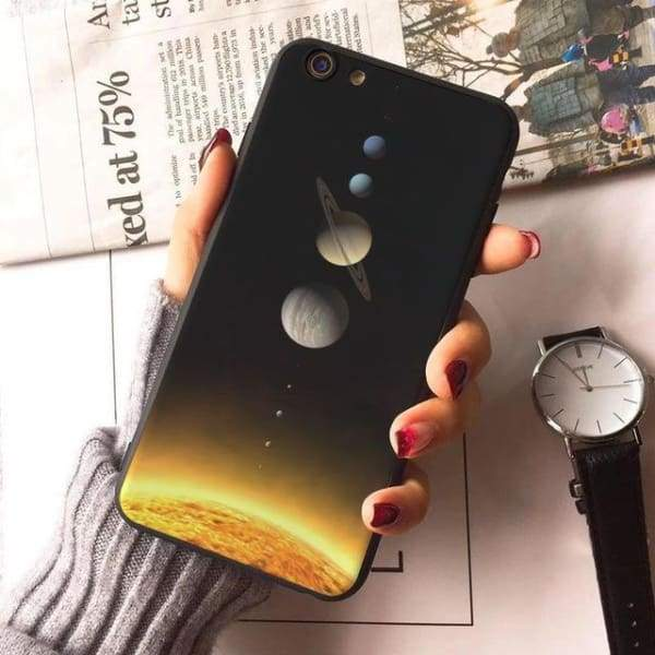 Planet Stars Iphone Case For Iphone 7 /7Plus /x /8 /8Plus /6S /6 /6Plus /5 /5S 5Se - 5 / For Iphone 8 - Iphone Cases & Bags - Paidcellphone