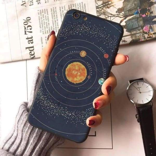 Planet Stars Iphone Case For Iphone 7 /7Plus /x /8 /8Plus /6S /6 /6Plus /5 /5S 5Se - 7 / For Iphone 8 - Iphone Cases & Bags - Paidcellphone