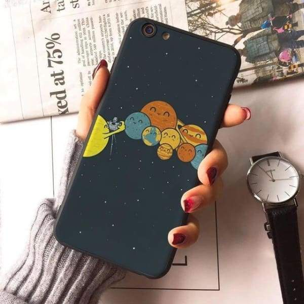 Planet Stars Iphone Case For Iphone 7 /7Plus /x /8 /8Plus /6S /6 /6Plus /5 /5S 5Se - 9 / For Iphone 8 - Iphone Cases & Bags - Paidcellphone