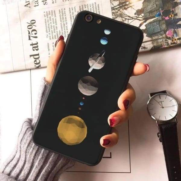 Planet Stars Iphone Case For Iphone 7 /7Plus /x /8 /8Plus /6S /6 /6Plus /5 /5S 5Se - 4 / For Iphone 8 - Iphone Cases & Bags - Paidcellphone