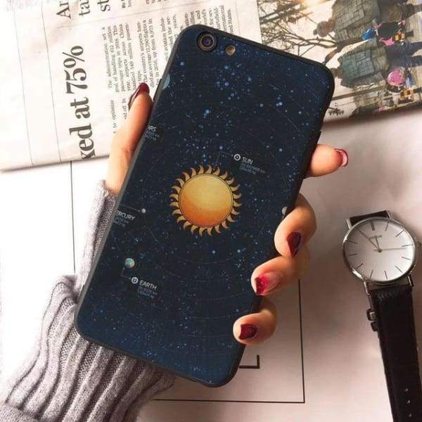 Planet Stars Iphone Case For Iphone 7 /7Plus /x /8 /8Plus /6S /6 /6Plus /5 /5S 5Se - 6 / For Iphone 8 - Iphone Cases & Bags - Paidcellphone