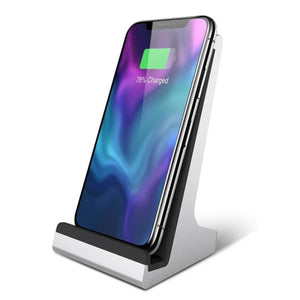 Qi Wireless Dock Charger Stand For Iphone 8/x/8 Plus - Chargers & Cables - Paidcellphone