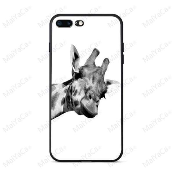 Rabbit | Flamingo | Giraffe | Elephant Iphone Cover For Iphone 5 /5S /5 Se /6S /7 /8 - 8 / For Iphone 5 5S - Iphone Cases & Bags -