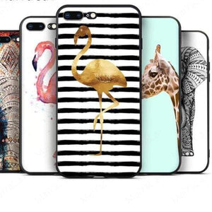 Rabbit | Flamingo | Giraffe | Elephant Iphone Cover For Iphone 5 /5S /5 Se /6S /7 /8 - Iphone Cases & Bags - Paidcellphone