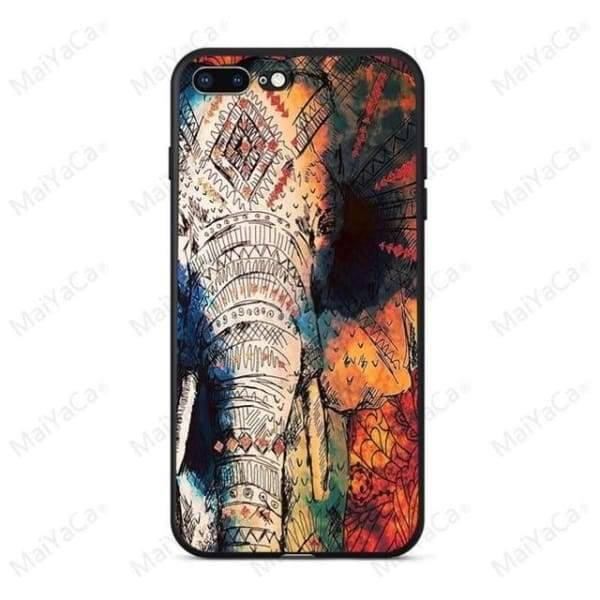 Rabbit | Flamingo | Giraffe | Elephant Iphone Cover For Iphone 5 /5S /5 Se /6S /7 /8 - 4 / For Iphone 5 5S - Iphone Cases & Bags -