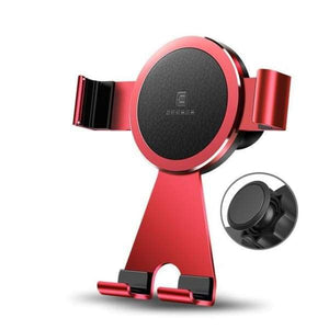 Rotating Car Mobile Phone Holder For Iphone X /8 /7 Plus - China / Paste Type Red - Car & Phone Holders - Paidcellphone
