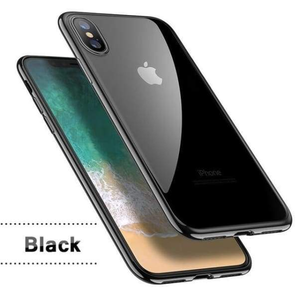Silicon Cover Plating Case For Iphone X 7/8 Plus - Black / For Iphone X - Iphone Cases & Bags - Paidcellphone