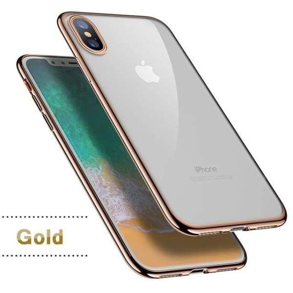 Silicon Cover Plating Case For Iphone X 7/8 Plus - Gold / For Iphone X - Iphone Cases & Bags - Paidcellphone