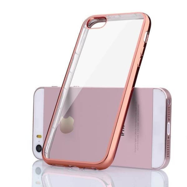 Silicone Case For Iphone 5 /5S /se - Rose Gold / For Iphone 8 - Iphone Cases & Bags - Paidcellphone