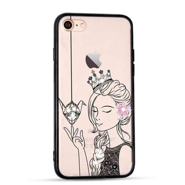 Sparkle Girl Cartoon Cases For Iphone 7/8 /6(S) Plus - Iphone Cases & Bags - Paidcellphone
