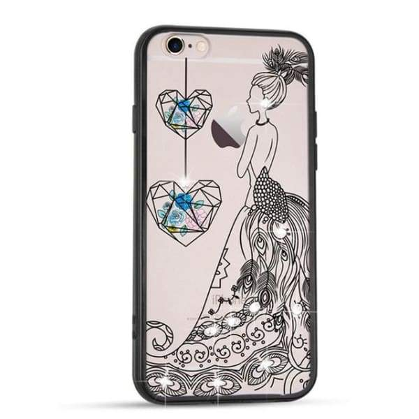Sparkle Girl Cartoon Cases For Iphone 7/8 /6(S) Plus - 04 / For Iphone 6 6S - Iphone Cases & Bags - Paidcellphone