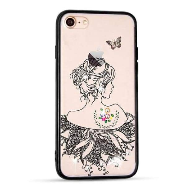 Sparkle Girl Cartoon Cases For Iphone 7/8 /6(S) Plus - 01 / For Iphone 6 6S - Iphone Cases & Bags - Paidcellphone