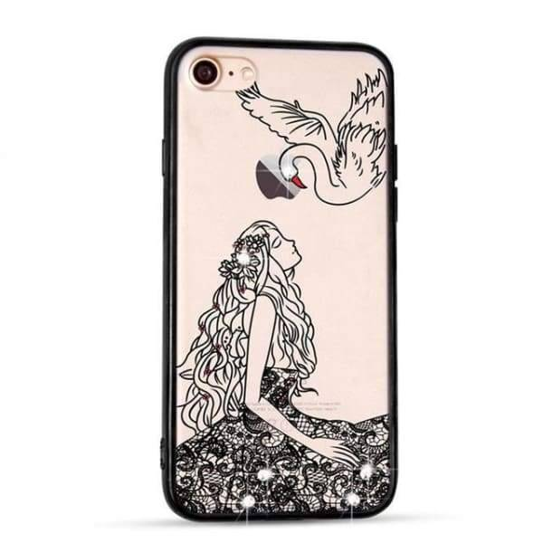 Sparkle Girl Cartoon Cases For Iphone 7/8 /6(S) Plus - 02 / For Iphone 6 6S - Iphone Cases & Bags - Paidcellphone