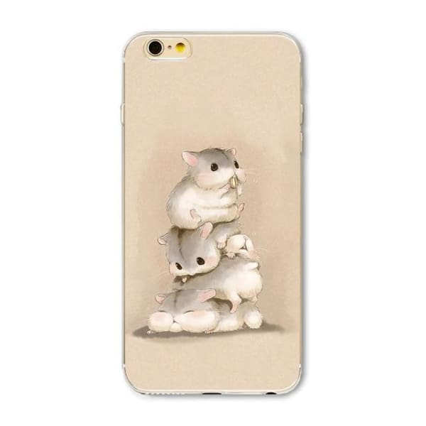 Super Cute Dog-Cat Phone Cases For Iphone 6 6S - 1H / For Iphone 6 6S - Iphone Cases & Bags - Paidcellphone