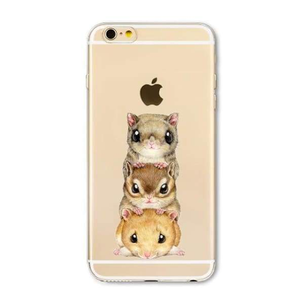 Super Cute Dog-Cat Phone Cases For Iphone 6 6S - 5H / For Iphone 6 6S - Iphone Cases & Bags - Paidcellphone