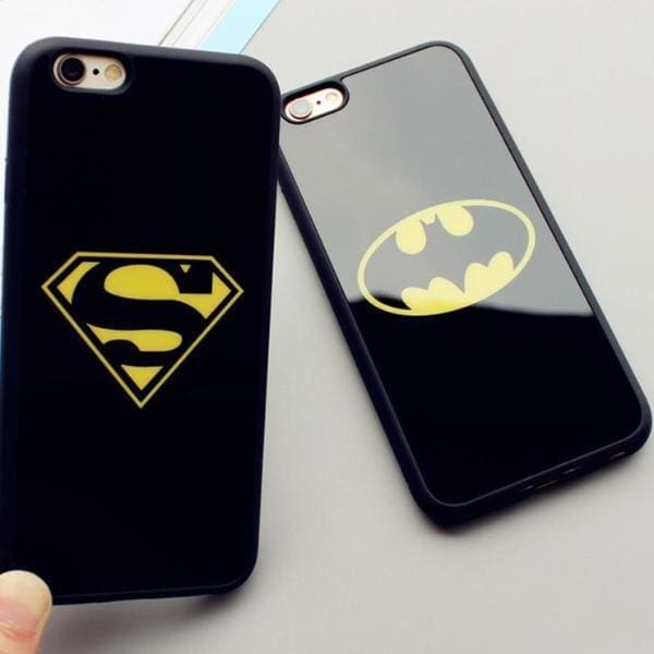 Superman Batman Case For Iphone X/ 7/8 Plus /5(S) Se/ 6(S) - Iphone Cases & Bags - Paidcellphone