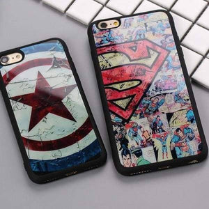 Superman Captain America Case For Iphone X /5(S) Se/6(S) /7/8 Plus - Iphone Cases & Bags - Paidcellphone