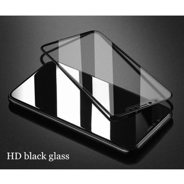 Tempered Glass 3D For Iphone X - 3D Hd Black Glass / For Iphone X - Screen Protectors - Paidcellphone