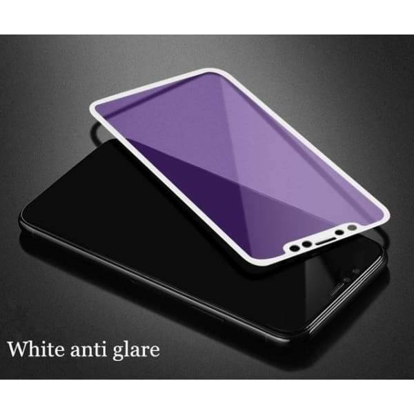 Tempered Glass 3D For Iphone X - White Anti Glare / For Iphone X - Screen Protectors - Paidcellphone