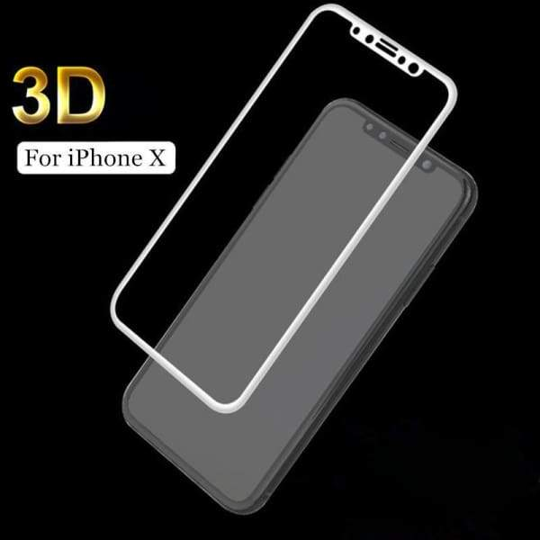 Tempered Glass 3D For Iphone X - Screen Protectors - Paidcellphone