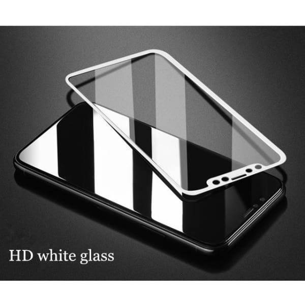 Tempered Glass 3D For Iphone X - 3D Hd White Blass / For Iphone X - Screen Protectors - Paidcellphone