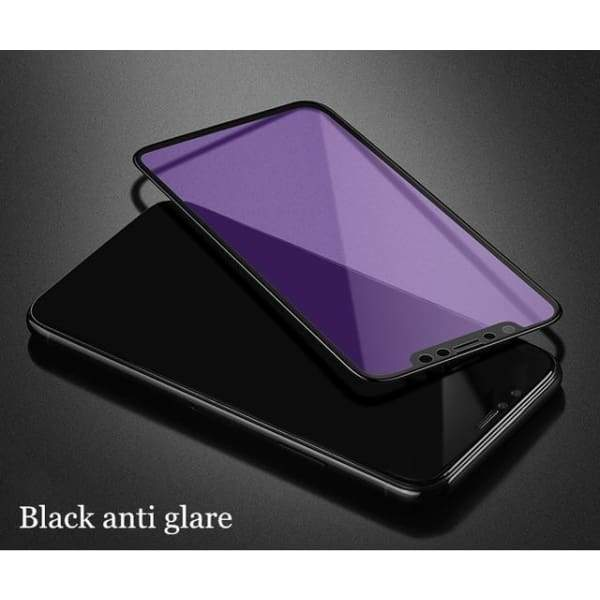 Tempered Glass 3D For Iphone X - Black Anti Glare / For Iphone X - Screen Protectors - Paidcellphone