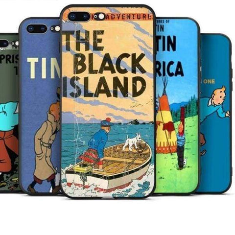 The Adventures Of Tintin Iphone Case For Iphone /5 /5S Se /6S /7 /8 - Iphone Cases & Bags - Paidcellphone